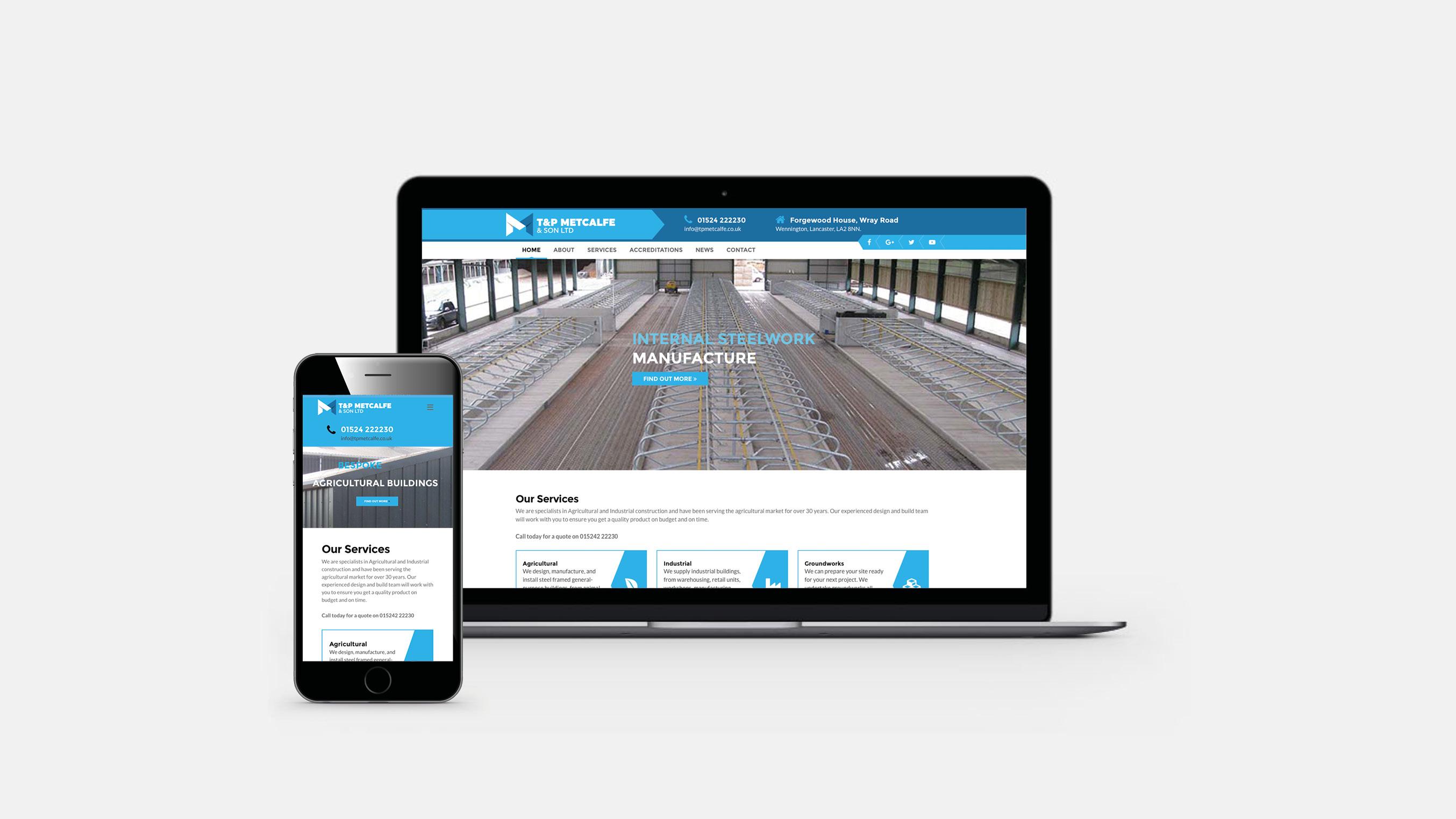 T&P Metcalfe website design cumbria lancaster